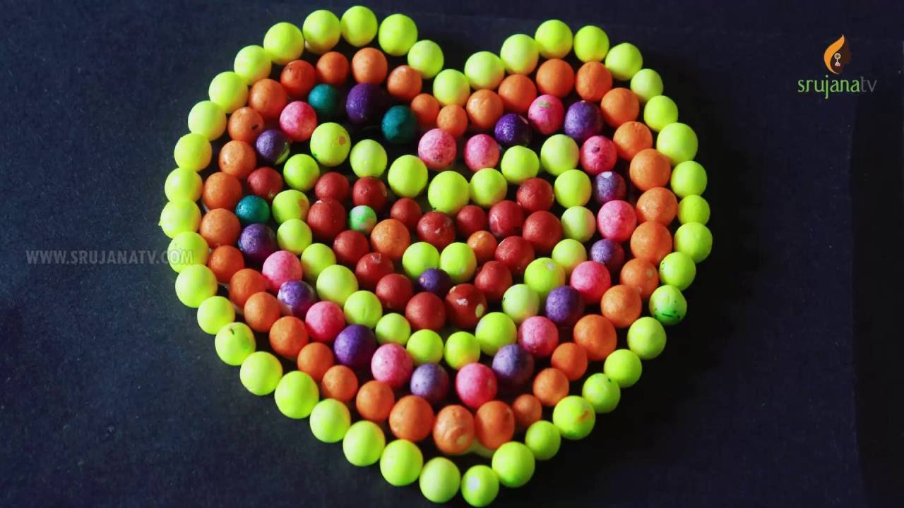 Awesome Heart Shape With Thermocol Balls In Creative Crafts By SrujanaTV
