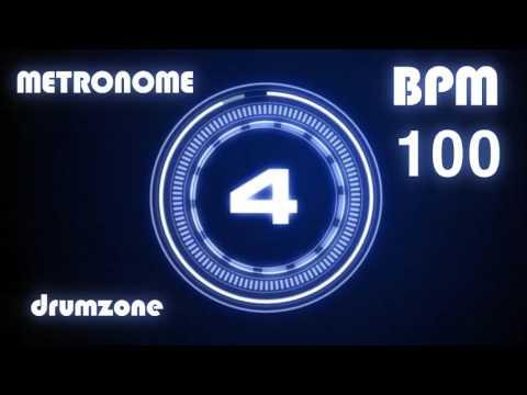 100 BPM - Metronome - Click & Voice ( 1 hour )