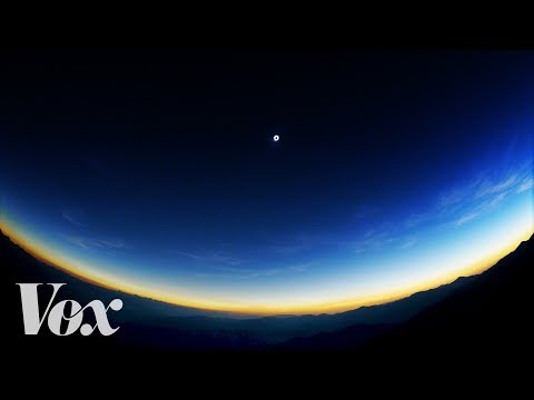 A mountaintop view of the total solar eclipse