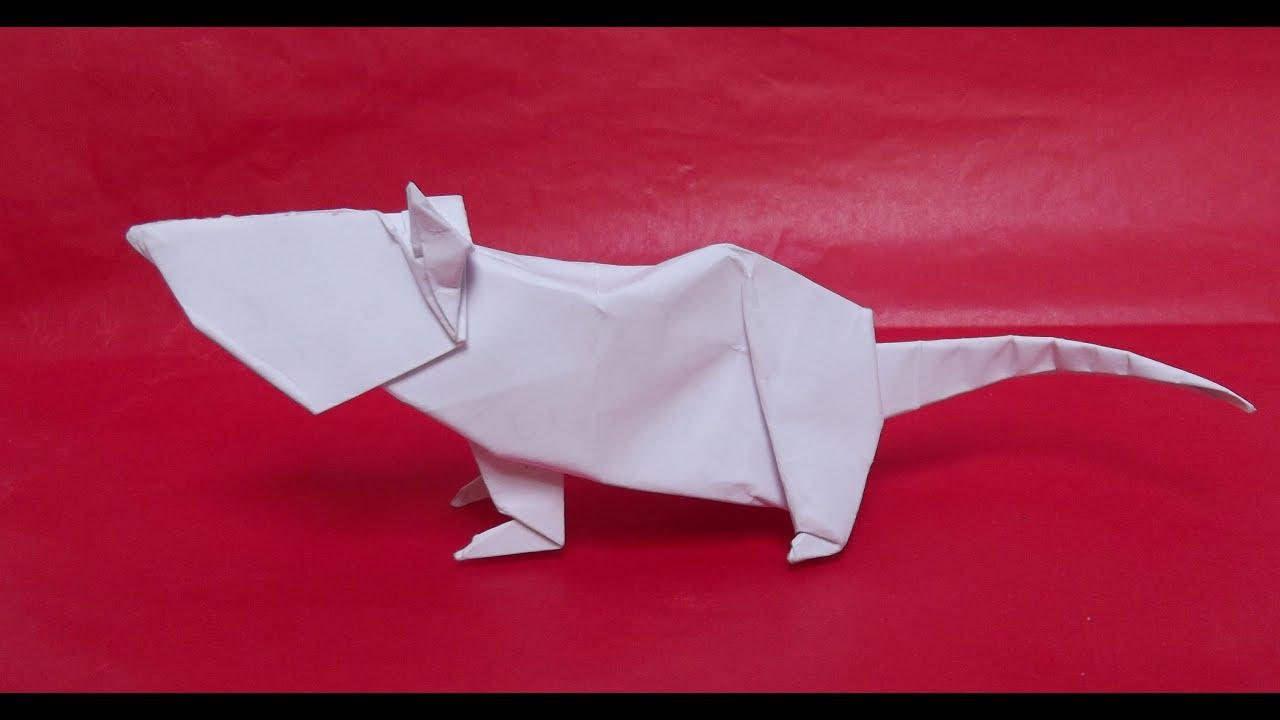 origami facile rat