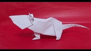 Origami Tutorial Mouse - Rat (chinese Zodiac) - John Montroll