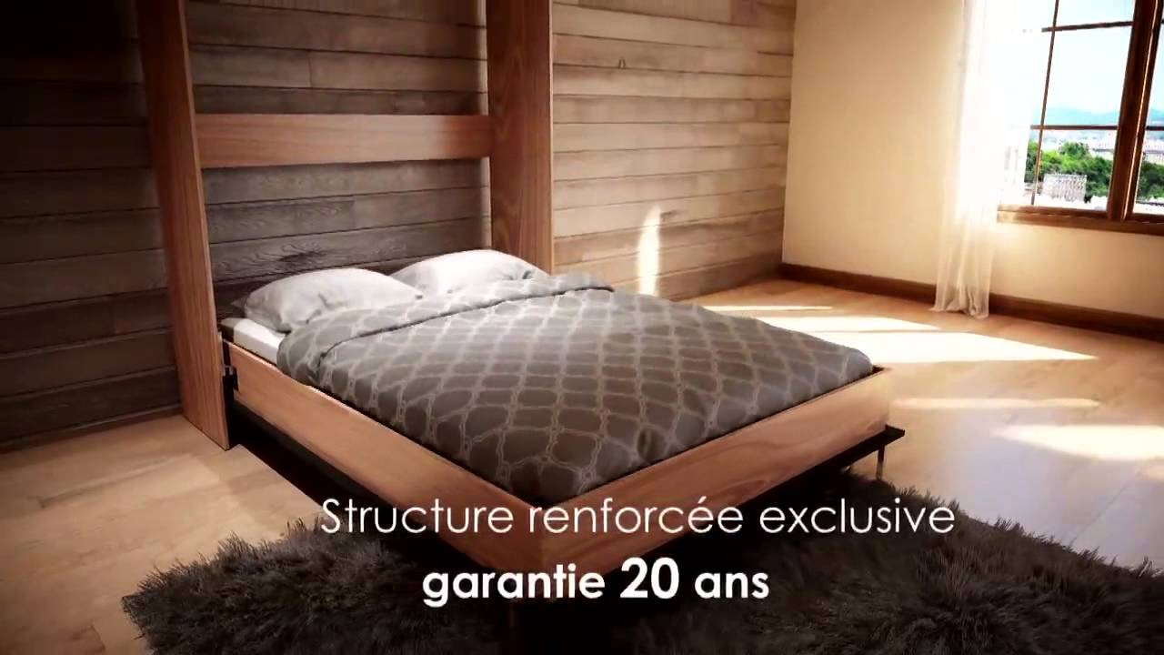la place du lit mural youtube. Black Bedroom Furniture Sets. Home Design Ideas