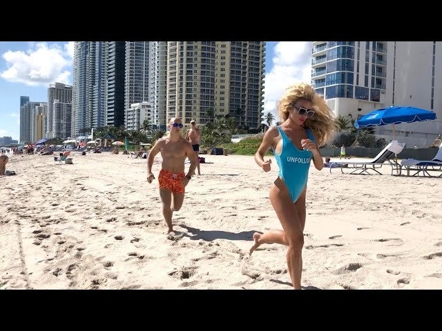 Chasing Russian Blondie on Miami Beach