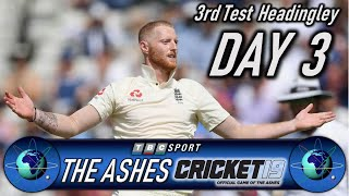 Cricket 19 The Ashes 3rd Test at Headingley Day 3 - Retro 90s BBC Style Presentation