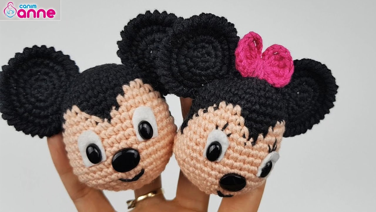 Free Mickey Mouse and Minnie Mouse Ornament Crochet Pattern | 720x1280