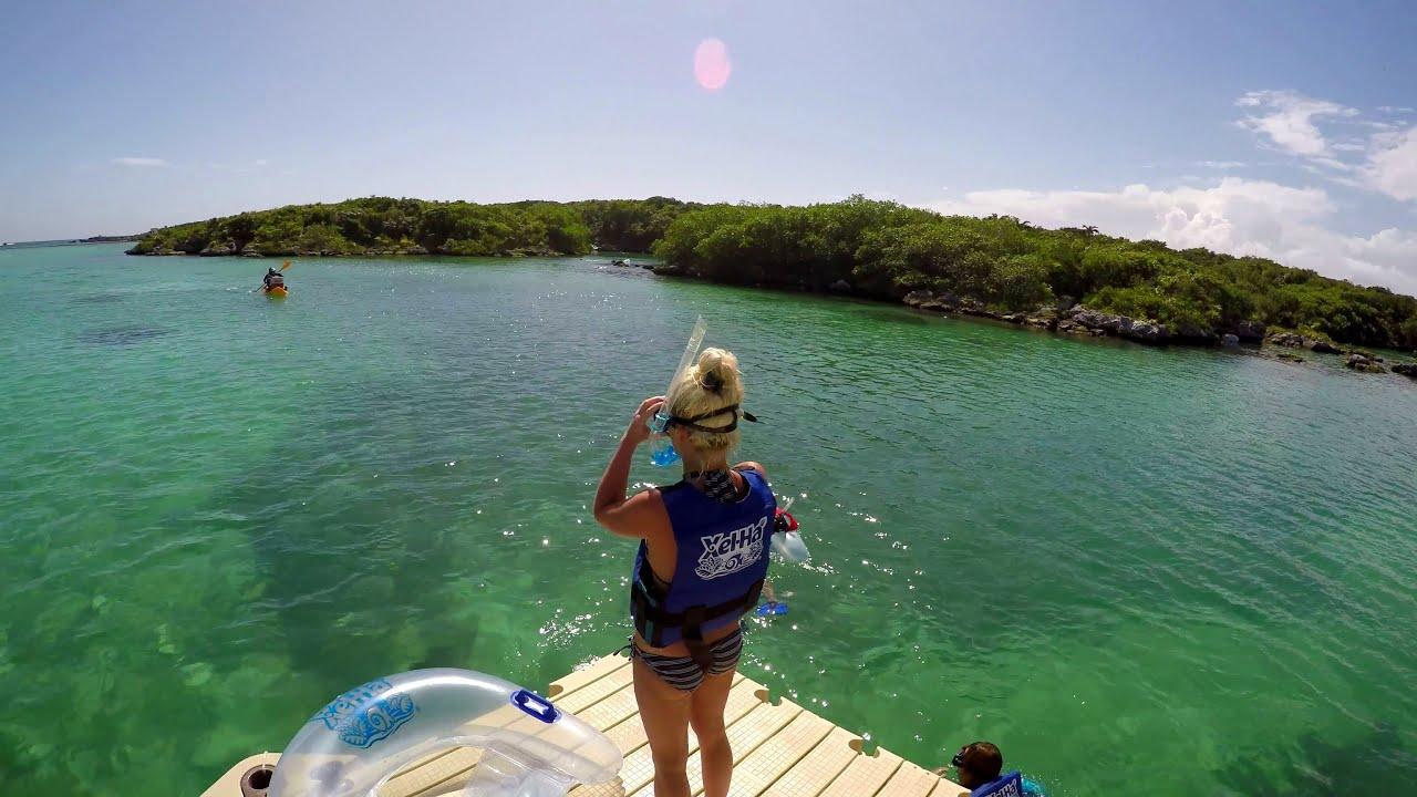 Xel Ha Park Riviera Maya Amazing Water Xelha Lagoon Mexico 2016 GoPro Hero 4 Zipline UHD 4K