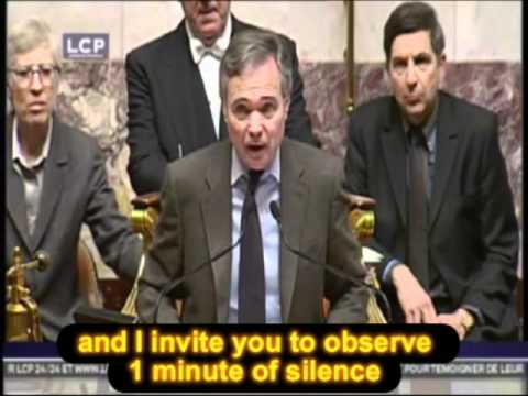 The French National Assembly express his solidarity with the Japanese Nation