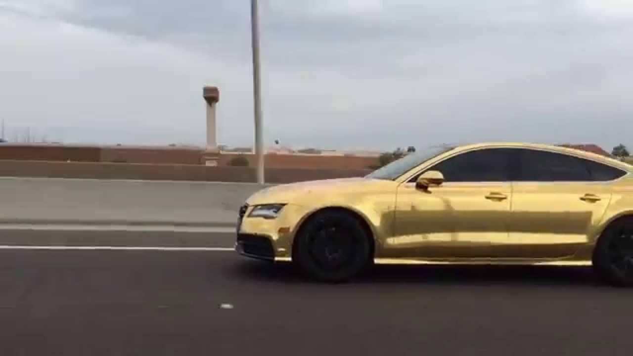 Audi A Gold Chrome Bmw Series Gran Coupe Gold Chrome By TWrap - Audi s7 vs bmw 650i gran coupe