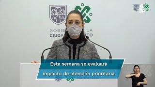 La secretaria de Salud, Oliva López Arellano, explicó que la pandemia por el coronavirus en la Ciudad de México se encuentra estancada al no poder bajar el número de hospitalizaciones debido a la cantidad de habitantes y colindancia con el Estado de México