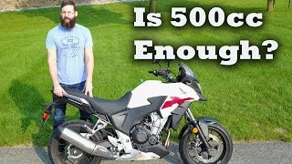 is Honda CB500X Big enough for a Man ?