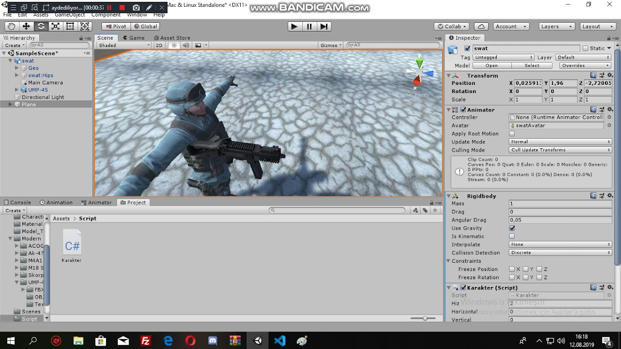 Unity 3D Game Mouse Rotation