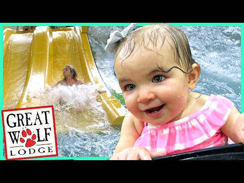 FIRST TIME AT GREAT WOLF LODGE INDOOR WATERPARK! | Sam & Nia