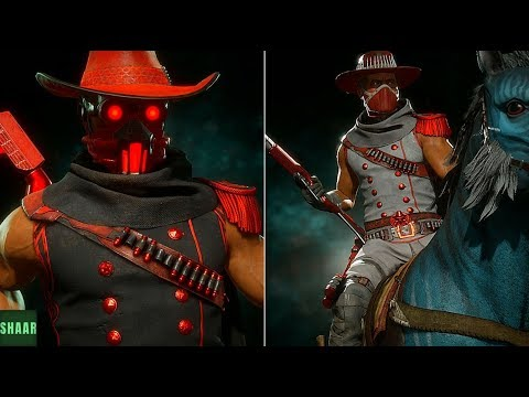 Mortal Kombat 11 - ERRON BLACK Captain Blood & Red River SKINS SHOWCASE (  Kombat League REWARDS!)