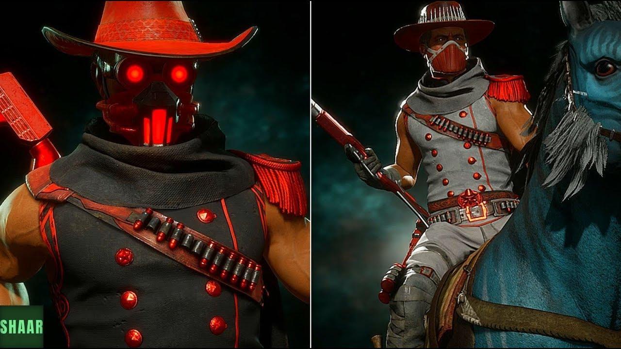 Mortal Kombat 11 - ERRON BLACK Captain Blood & Red River SKINS SHOWCASE (  Kombat League REWARDS!)