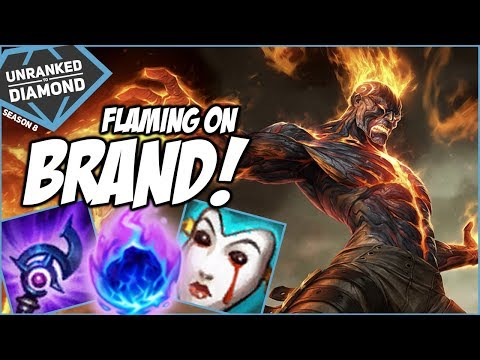 FLAMING ON BRAND! - Unranked to Diamond - Ep. 142 | League of Legends