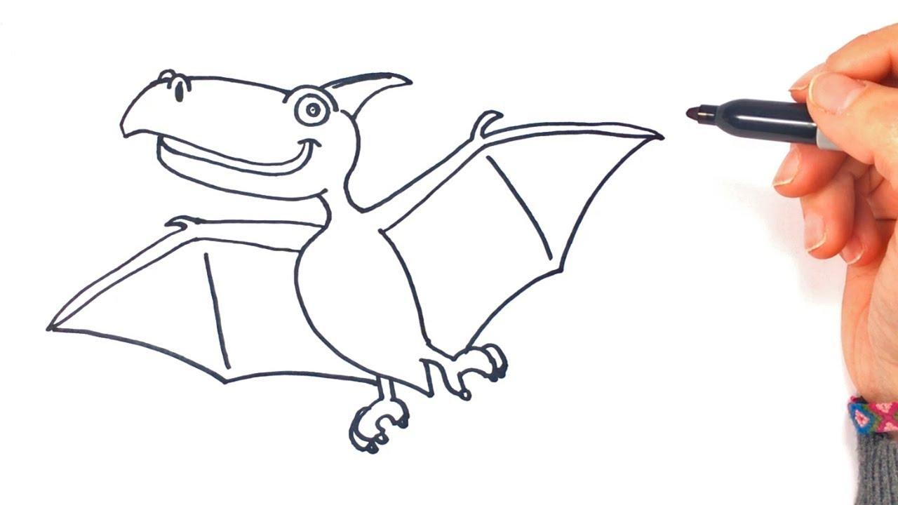 Cómo Dibujar Un Dinosaurio Volador Paso A Paso Y Fácil