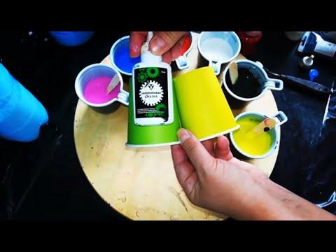 Замес краски ПВА без лака.Пропорции, теория, практика. Acrylic Fluid Pouring