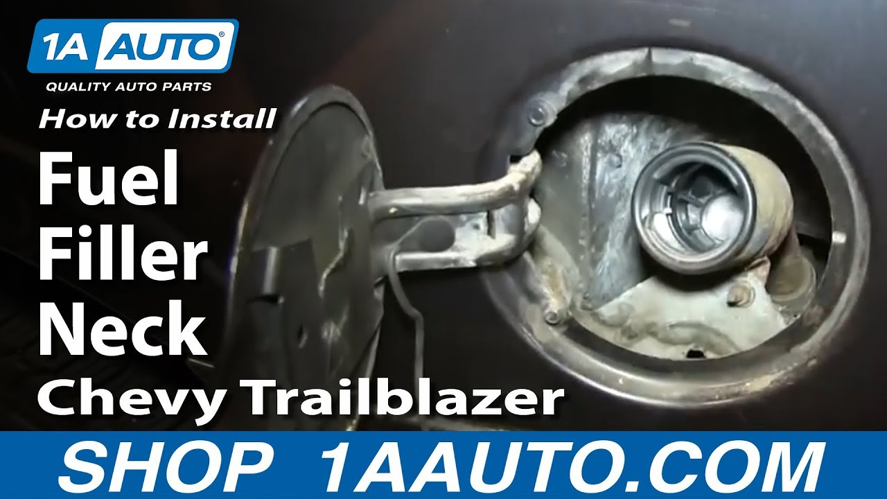 hight resolution of how to install replace rusty fuel filler neck 2002 04 gmc envoy chevy trailblazer youtube