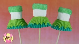 TINKERBELL MARSHMALLOW POPS - Party Treat Idea - By Charli's Crafty Kitchen