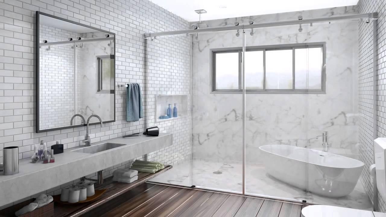 Alumitem Perfis e Acessórios Box para Banheiro Due, Design e Decoração  You -> Armario Para Box De Banheiro