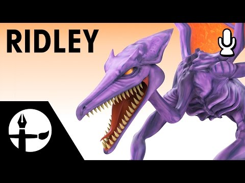 Ridley Smashified - 3D Model Time Lapse (Commentary)