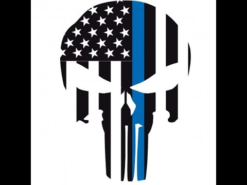 How to cricut vinyl layering punisher thin blue line car decal