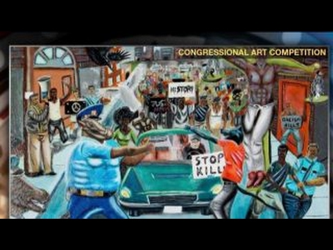 Why Rep. Hunter took down anti-police painting
