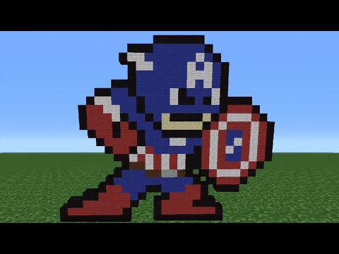 Minecraft Tutorial: How To Make Captain America (8-Bit)