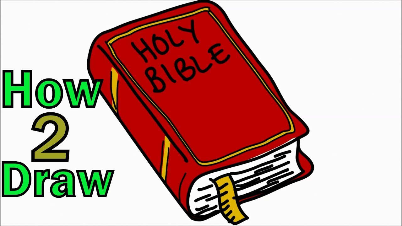How To Draw The Holy Bible Arts For Kids Youtube