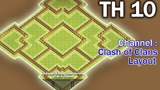 Clash of Clans Town Hall 10 TH10 Trophy Base Perfect Defense Farming