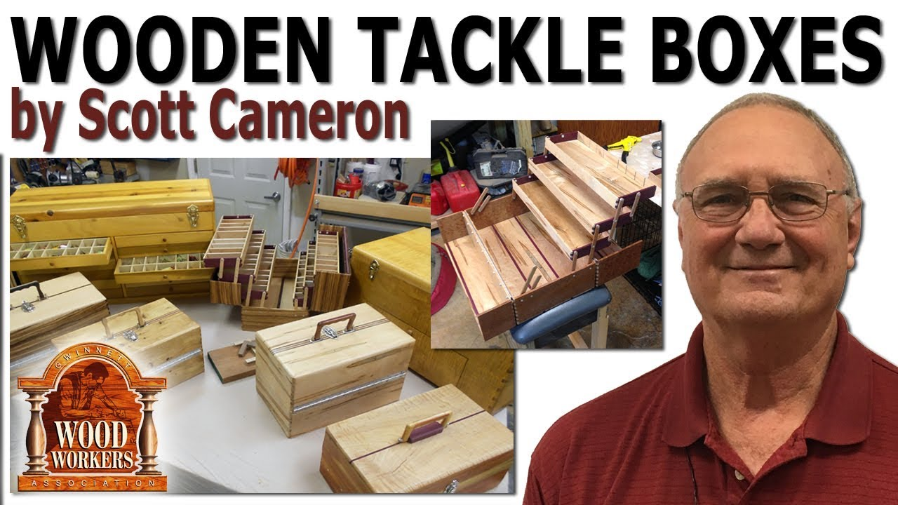 wooden tackle boxesscott cameron