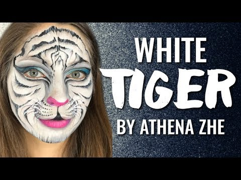 White Tiger Face Paint Design By Athena Zhe