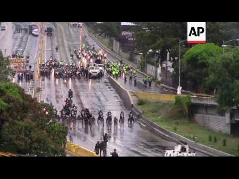 Security forces clash with protesters in Venezuela