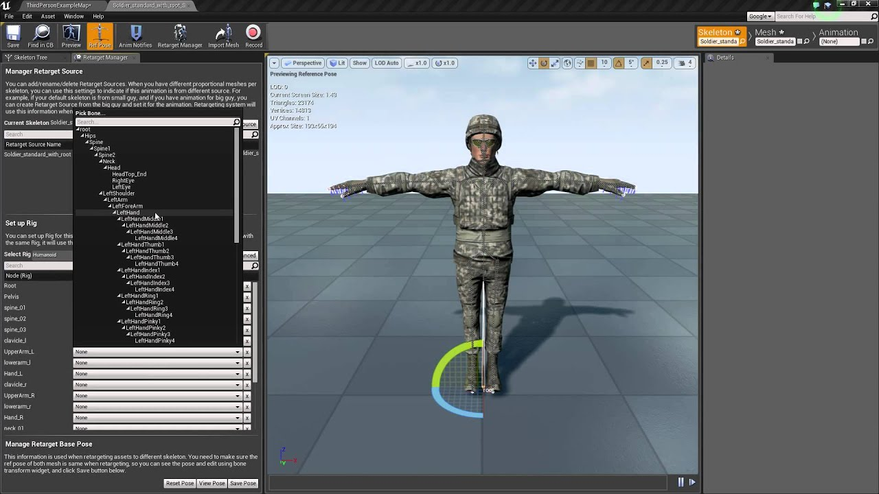 Part 1 howto get mixamo rootmotion into ue4 youtube malvernweather Choice Image