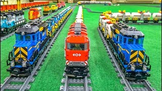 LEGO train ACTION! Model trains! EPIC COMPILATION!