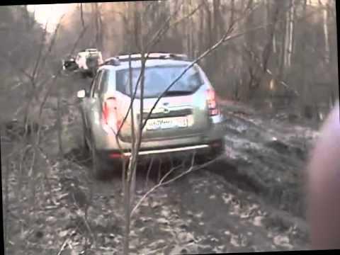 Рено дастер в грязи видео с личным эвакуатором