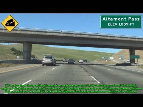 Interstate 580 Westbound over the Altamont Pass