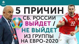 5 ПРИЧИН Почему сборная России Выйдет Не выйдет из группы на Евро 2020
