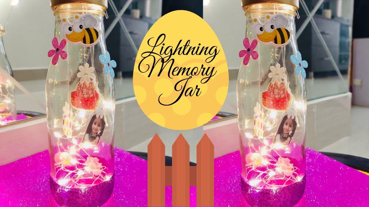 Diy Lightning Memory Jar Last Minute Birthday Surprise Gift Idea Easy Diy Ideas Youtube