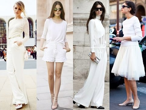 6fb2d10aefe5 Fashionable all white outfits 2017 - YouTube