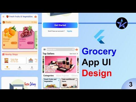 Flutter Grocery App   Part-3   Sample UI Screen - Flutter app - Speed Code