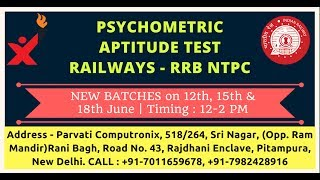 railways rrb ntpc psychometric video lectures part 2