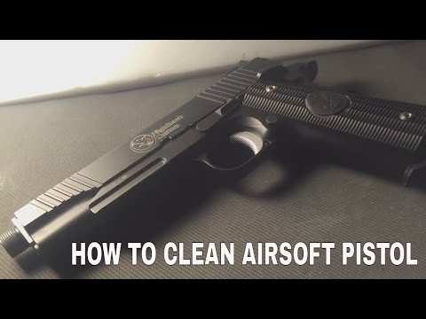 HOW TO CLEAN l c02 AIRSOFT PISTOL