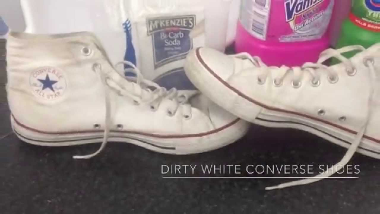 8b3ed726794a How To Clean And Whiten Converse - YouTube