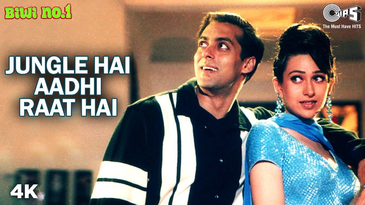 Jungle Hai Aadhi Raat Hai | Salman Khan | Karisma Kapoor | Kumar S | Hema S | Biwi No.1 | 90's Songs