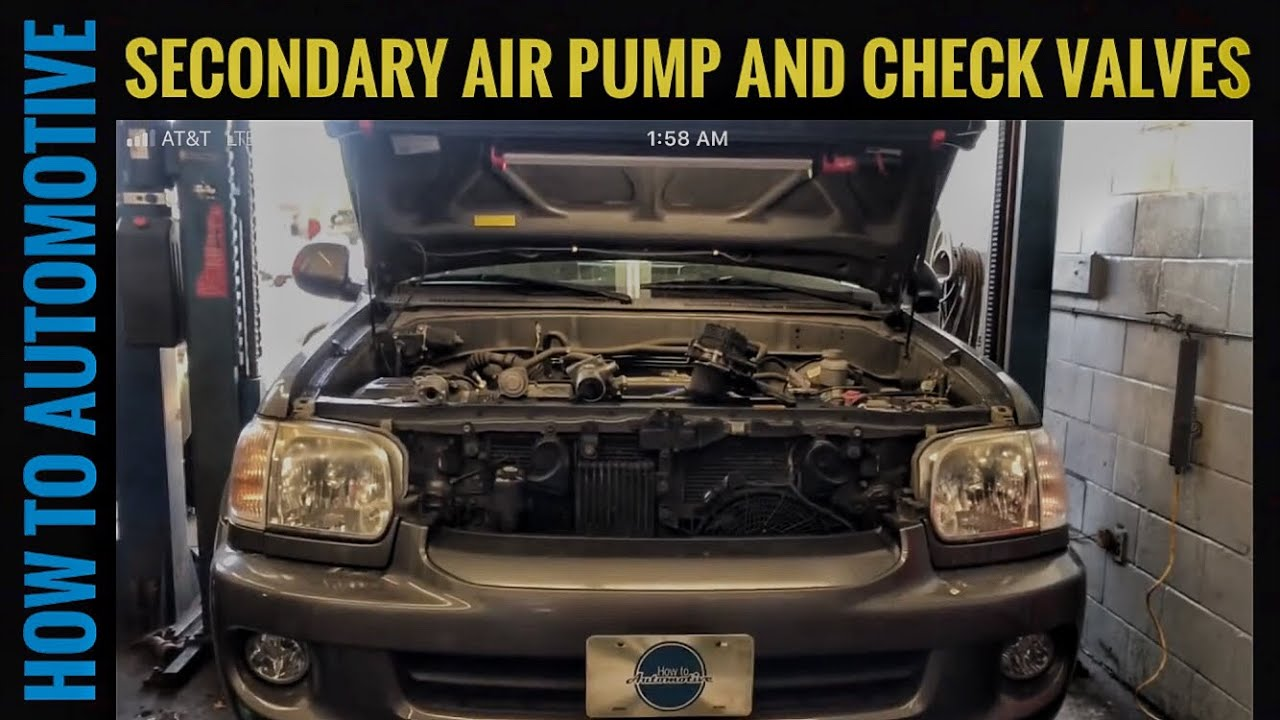How To Replace The Secondary Air Injection Pump And Check Valves On 2005 Pt Cruiser Fuel Wiring Diagram A 2000 2007 Toyota Sequoia
