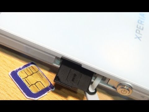SONY XPERIA Z How To Insert Sim Card!