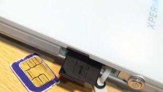 SONY XPERIA Z How to Insert Sim Card!