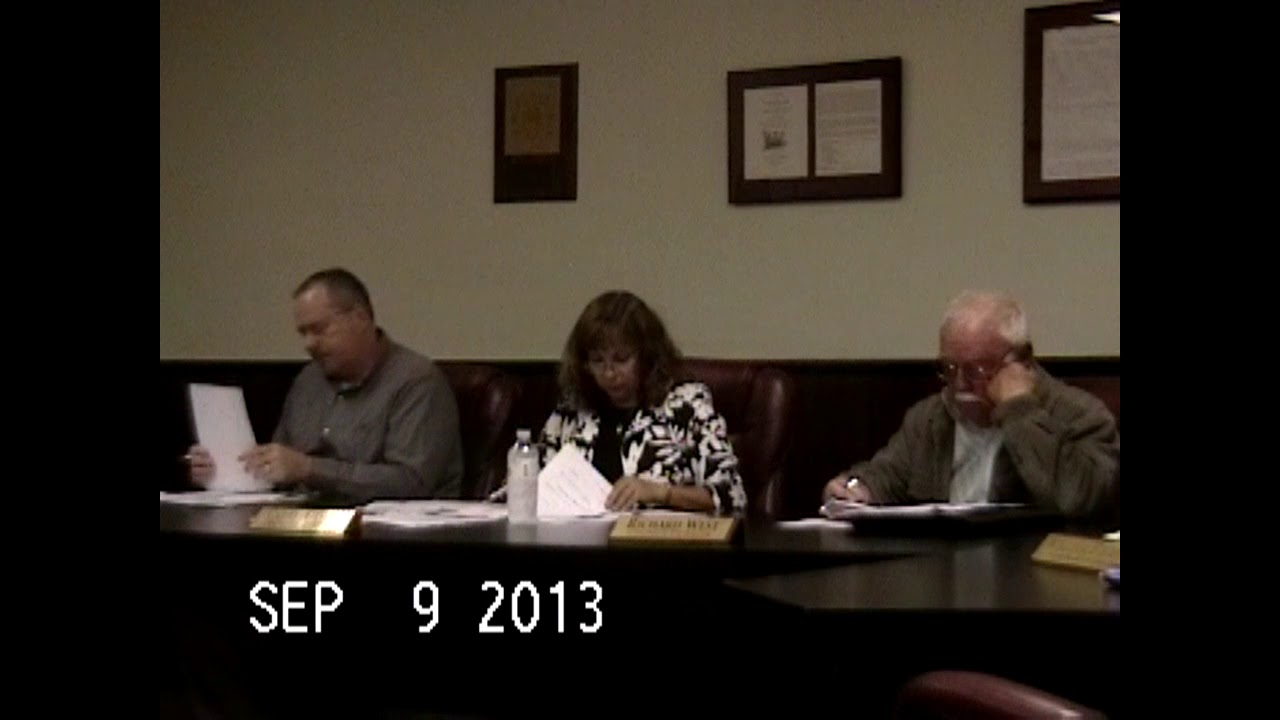 Chazy Town Board Meeting  9-9-13