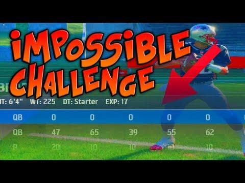CAN A 0 OVERALL QB THROW A 100 YARD TOUCHDOWN PASS!? Madden 18 Challenge
